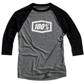 100% Essential Tech T-shirt met 3/4 mouwen Heren, grey/black